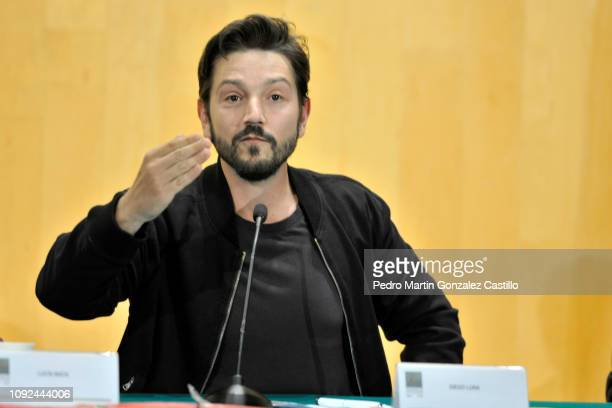Mexican actor Diego Luna attends the screening of the documentary 'Hasta los Dientes' or 'Armed to the Teeth' at Camara de Diputados January 10 2019...