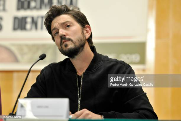 Mexican actor Diego Luna during the screening of the documentary 'Hasta los Dientes' or 'Armed to the Teeth' at Camara de Diputados January 10 2019...