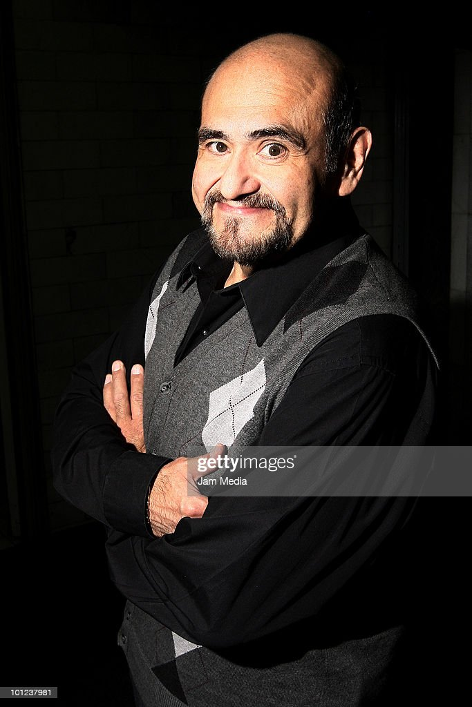 Mexican Actor Edgar Vivar poses for a photograph during the Actor's Workshop at Venustiano Carranza Theater on May 27, 2010 in Mexico City, Mexico.