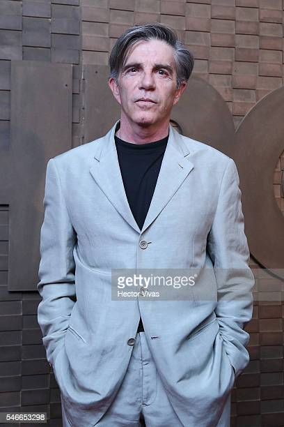 Mexican actor Fernando Ciangherotti poses for photos during HBO Latin America Red Carpet at Foro Indierocks on July 12 2016 in Mexico City Mexico