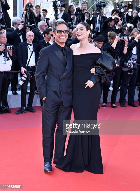 Mexican actor Gael Garcia Bernal and Fernanda Aragones arrive for the Closing Awards Ceremony of the 72nd annual Cannes Film Festival in Cannes...