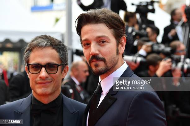 Mexican actors Gael Garcia Bernal and Diego Luna arrive for the screening of the film Once Upon a Time in Hollywood at the 72nd edition of the Cannes...