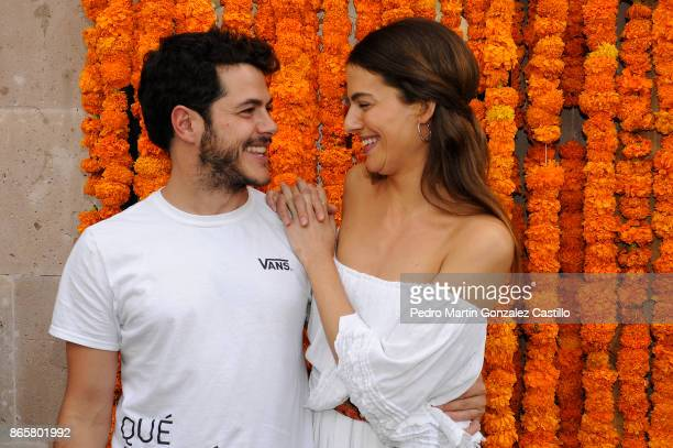 Mexican actors Natalia Varela and Alfonso Dosal pose from the red carpet during the presentation of the film Helena as part of XV Morelia...
