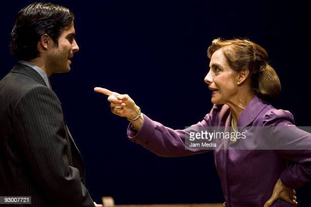Mexican actors Osvaldo Benavides and Diana Bracho during the Premiere of the Play ' Todos Eran Mis Hijos of Arthur Miller on November 11 2009 in...