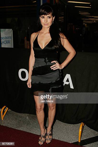 Mexican actress Alejandra Barros attends the opening night of La Costena Theater located in the metropolitan zone of Santa Fe on November 3 2009 in...