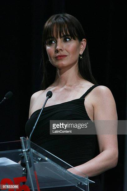 Mexican actress Alejandra Barros during the delivery of the Premio Guadalajara Iberoamericano as part of the the Guadalajara International Film...