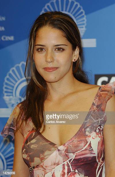 Mexican actress Ana Claudia Talacon attends a news conference for her new movie El Crimen del Padre Amaro during the 50th San Sebastian International...