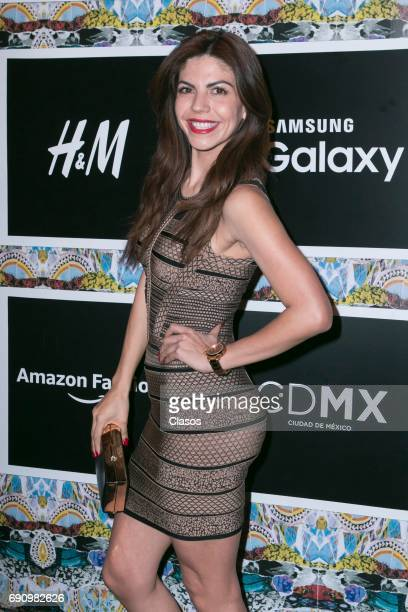 Mexican actress and model Africa Zavala during the Mexico Disena By Elle Black Carpet at Churubusco Studios on May 30 2017 in Mexico City Mexico