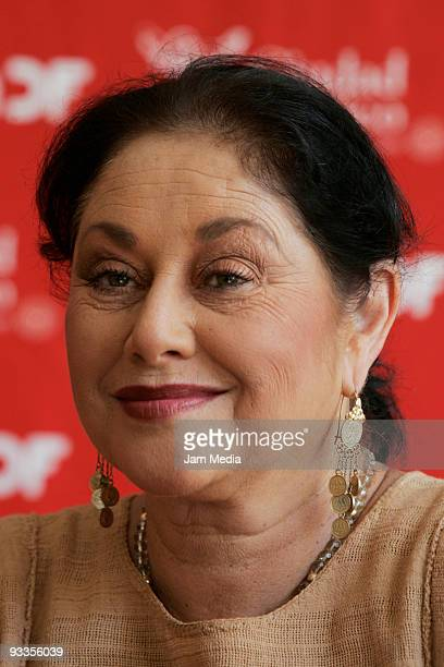Mexican actress and producer Angelica Aragon during the launch of the play 'Todo Buen Nino Debe Cantar ' by the writer Tom Stoppard on November 24...