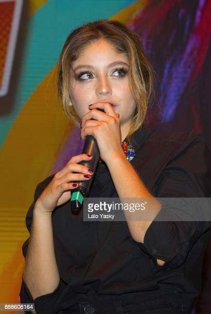 Mexican actress and singer Karol Sevilla attends Argentina ComicCon at Costa Salguero on December 8 2017 in Buenos Aires Argentina