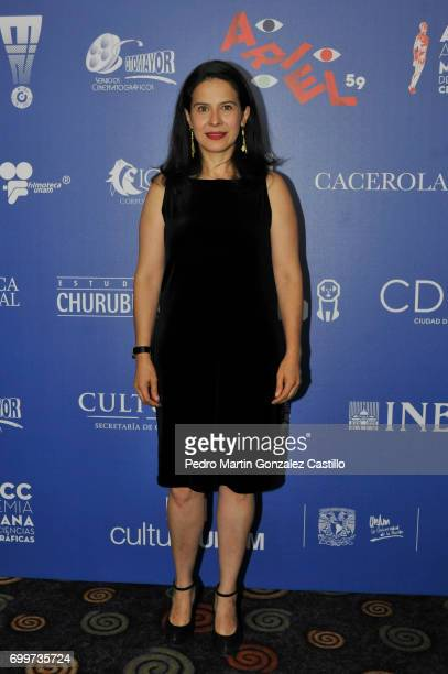 Mexican actress Arcelia Ramirez poses during the 59th Ariel Awards Nominees Event at Fiesta Americana Hotel on June 21 2017 in Mexico City Mexico