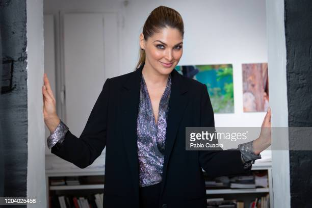 Mexican actress Blanca Soto attends her photography exhibition opening on February 04 2020 in Madrid Spain