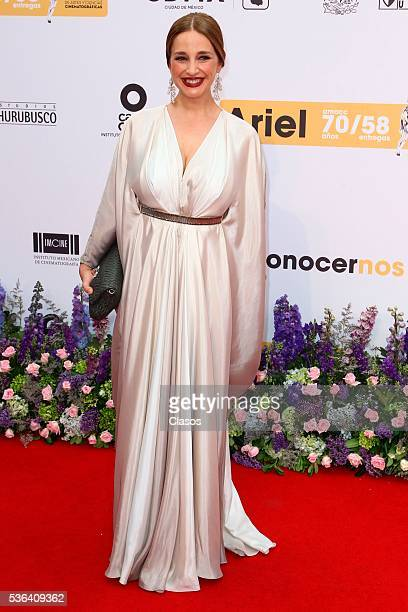 Mexican actress Claudia Ramirez attends the red carpet of Premios Ariel 2016 at Nacional Auditorium on May 17 2016 in Mexico City Mexico