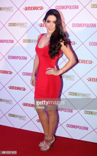 Mexican actress Daniela Basso poses during the Cosmo Fashion Night Red Carpet on May 30 2017 in Mexico City Mexico