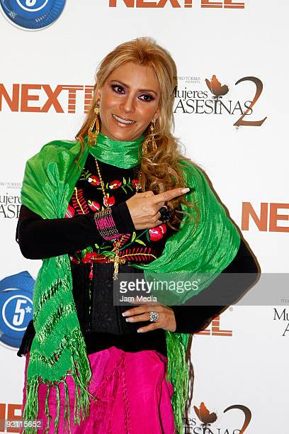 Mexican actress Daniela Castro during the launching of Mujeres Asesinas TV Show on October 20 2009 in Mexico City Mexico