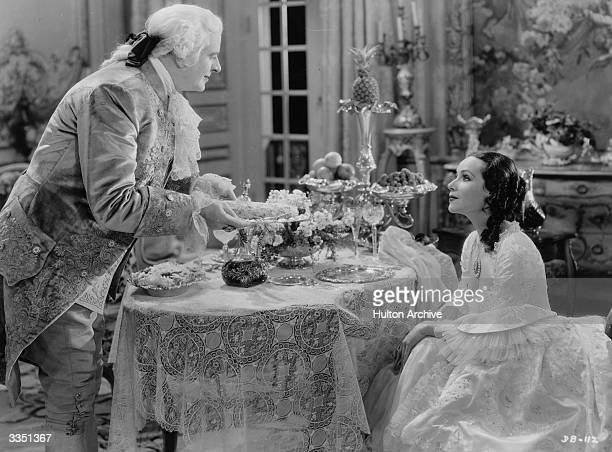 Mexican actress Dolores del R o as Madame DuBarry and Reginald Owen in William Dieterle's remake of 'Madame DuBarry'.