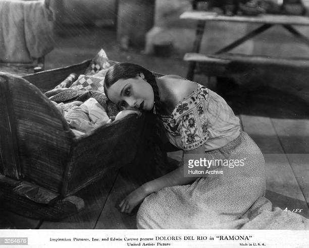 Mexican actress Dolores Del Rio , formerly Dolores Asunsolo plays the title role in 'Ramona', directed by Edwin Carewe for United Artists.