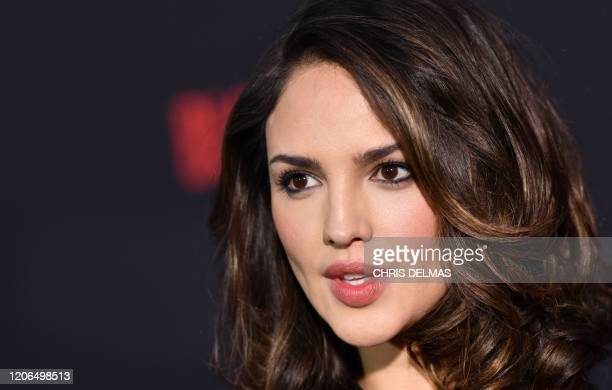 """Mexican actress Eiza Gonzalez arrives for the premiere of Sony's """"Bloodshot"""" at the Regency Village theatre on March 10, 2020 in Westwood, California."""