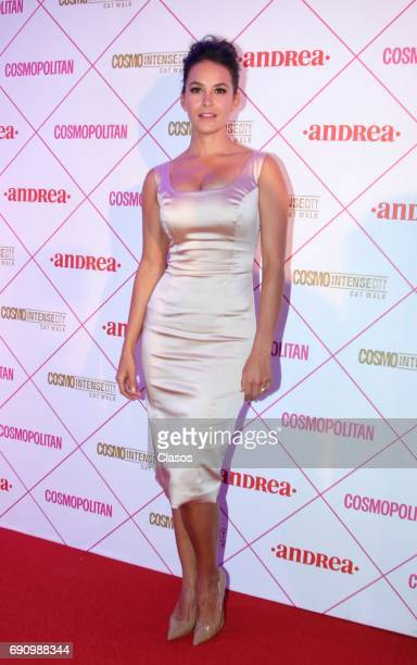 Mexican actress Georgina Holguin poses during the Cosmo Fashion Night Red Carpet on May 30 2017 in Mexico City Mexico
