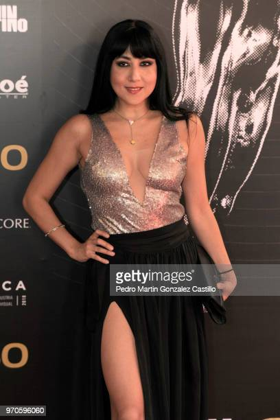Mexican actress Laura de Ita poses during the Red Carpet of 60th Ariel Awards at Palacio de Bellas Artes on June 5 2018 in Mexico City Mexico