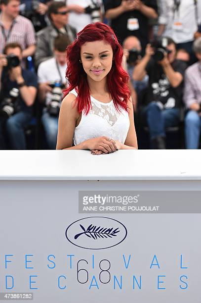 Mexican actress Leidi Gutierrez poses during a photocall for the film Las Elegidas at the 68th Cannes Film Festival in Cannes southeastern France on...