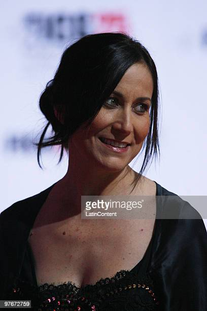 Mexican actress Lumi Cavazos poses during the Red Carpet of the opening ceremony of the Guadalajara International Film Festival on March 12 2010 in...