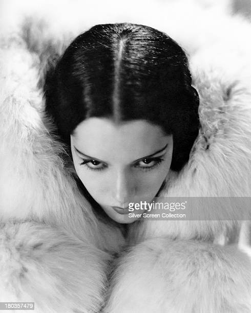 Mexican actress Lupe Velez ensconced in a white fur circa 1930 Photo by Silver Screen Collection/Getty Images