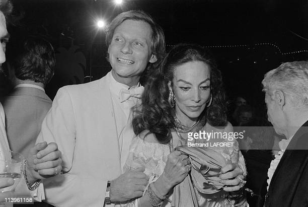 Mexican Actress Maria Felix at Le Palace In Paris France On March 31 1981Mexican actress Maria Felix with Fabrice Emaerowner of Le Palace celebrating...