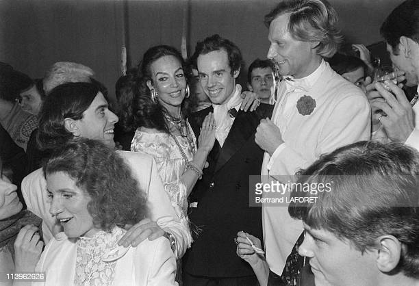 Mexican Actress Maria Felix at Le Palace In Paris France On March 31 1981Mexican actress Maria Felix Frederic Mitterand and Fabrice Emaerowner of Le...