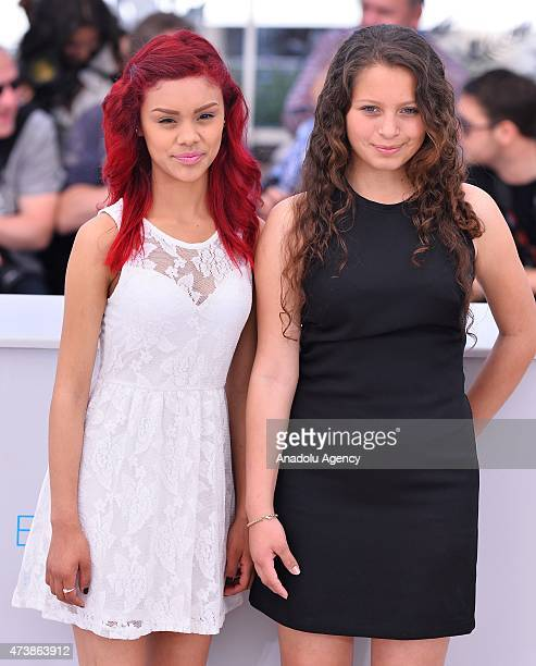 Mexican actress Nancy Talamantes and Mexican actress Leidi Gutierrez pose during the photocall for the film 'Las Elegidas ' at the 68th Cannes...