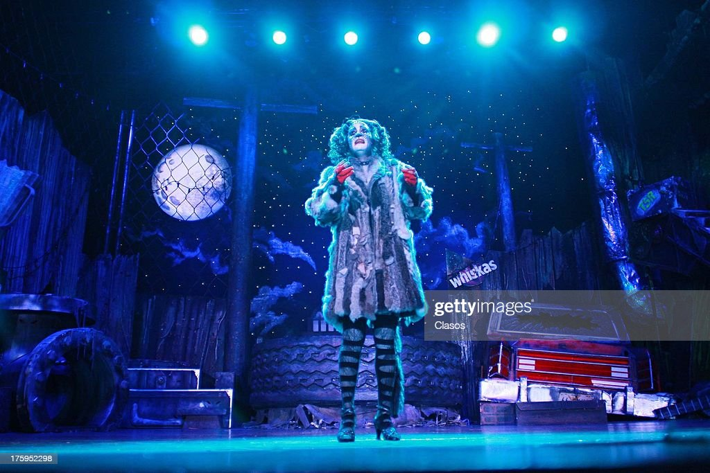 Mexican Actress Natalia Sosa performs at a press conference to present the Cats theatre play on august 08, 2013 in Ciudad de Mexico, Mexico.