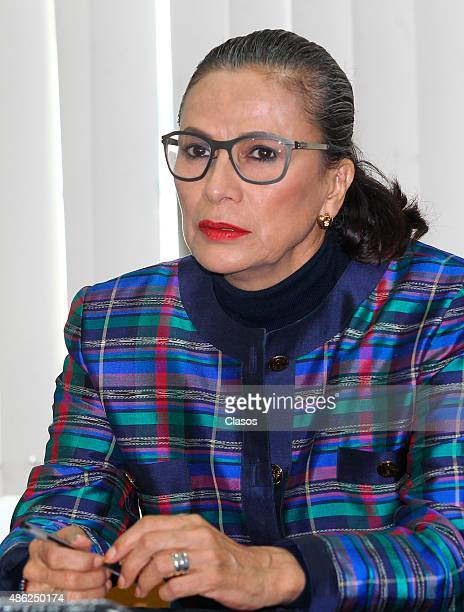 Mexican actress Patricia Reyes Spindola attends 'La Calle de la Amargura' film press conference at Instituto Mexicano De Cinematografia on August 31...
