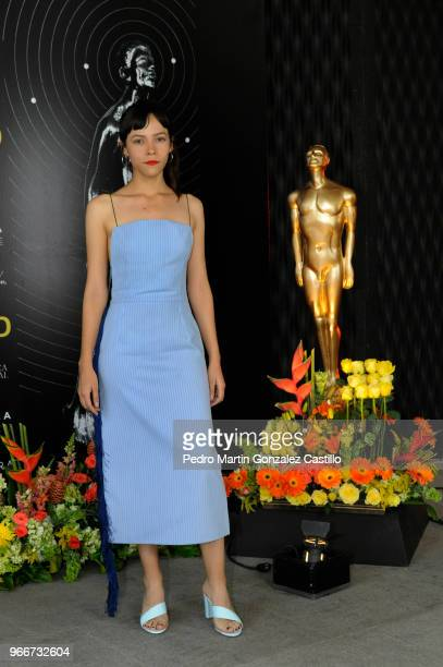 Mexican actress Ruth Ramos from the film The Untamed and nominated for Female Revelation poses during a photocall ahead of 60th Ariel Awards nominees...