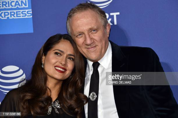 Mexican actress Salma Hayek and husband French businessman Francois-Henri Pinault arrive for the 31st Annual Palm Springs International Film Festival...