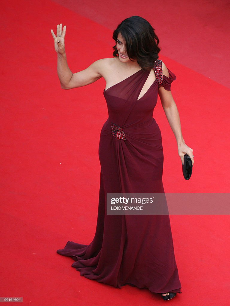 Mexican actress Salma Hayek arrives for the opening ceremony and screening of 'Robin Hood' presented out of competition at the 63rd Cannes Film Festival on May 12, 2010 in Cannes.