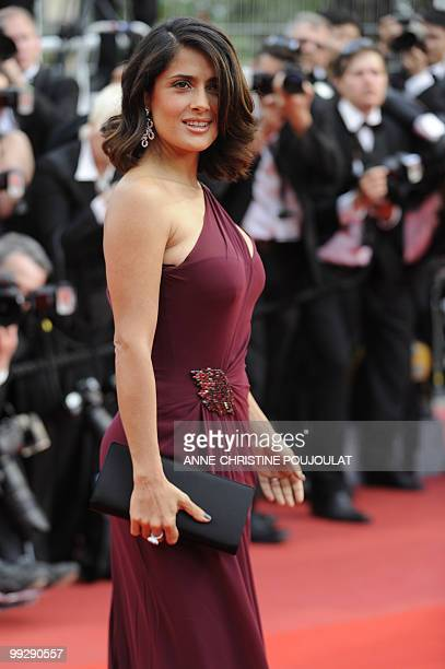 Mexican actress Salma Hayek arrives for the opening ceremony and screening of 'Robin Hood' presented out of competition at the 63rd Cannes Film...