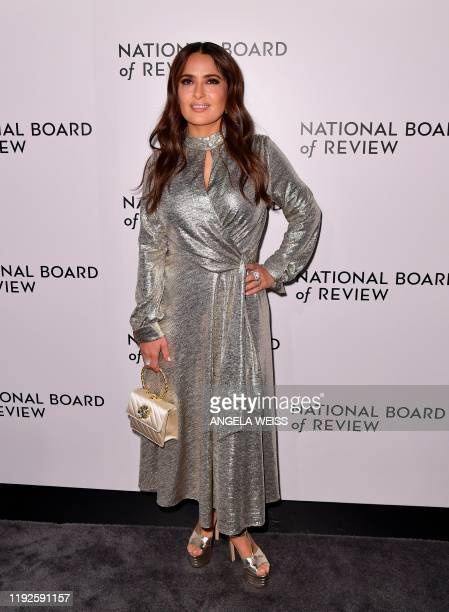 Mexican actress Salma Hayek attends the 2020 National Board Of Review Gala on January 8 2020 in New York City