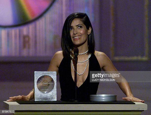 Mexican actress Salma Hayek receives her award for Favorite Supporting ActressAction for her role in the film Wild Wild West at the Sixth Annual...