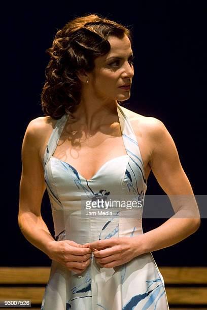 Mexican actress Silvia Navarro during the Premiere of the Play ' Todos Eran Mis Hijos of Arthur Miller on November 11 2009 in Mexico City Mexico