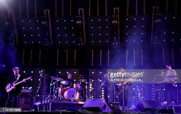 Mexican band Cafe Tacuba performs during the second day of the 'Vive Latino' music festival in Mexico City on March 17 2019