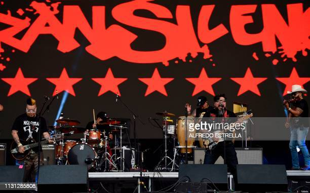 Mexican band El Gran Silencio performs during the second day of the 'Vive Latino' music festival in Mexico City on March 17 2019