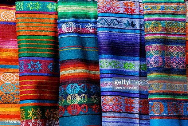 mexican blanket background - santa fe new mexico stock pictures, royalty-free photos & images