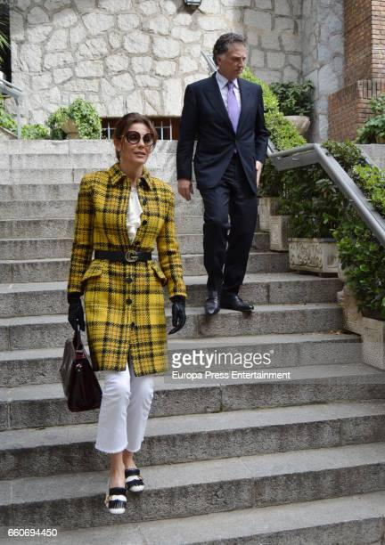 Mexican businessman Elias Sacal and model Mar Flores are seen going to a restaurant on March 22 2017 in Madrid Spain