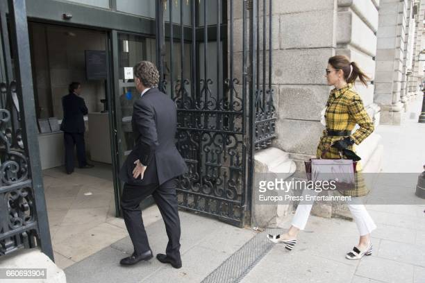 Mexican businessman Elias Sacal and model Mar Flores are seen visiting Royal Palace on March 22 2017 in Madrid Spain
