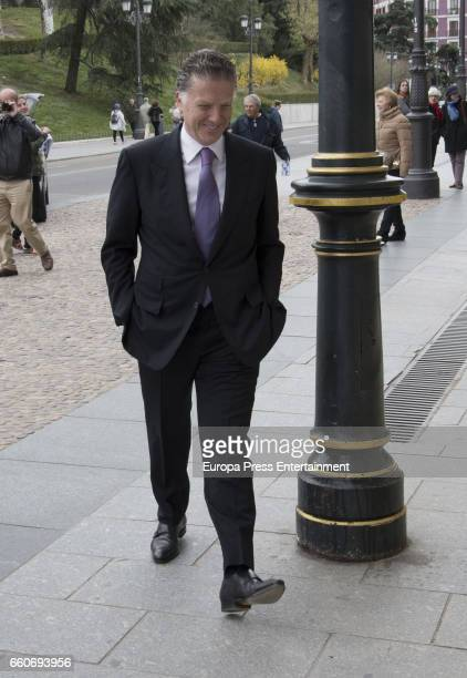 Mexican businessman Elias Sacal is seen visiting Royal Palace on March 22 2017 in Madrid Spain
