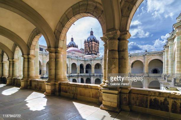 a mexican catholic church - oaxaca stock pictures, royalty-free photos & images