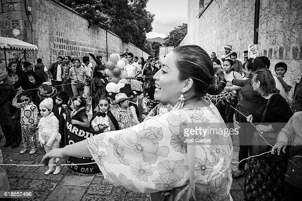 Mexican children dressed for Day of the Dead in Oaxaca