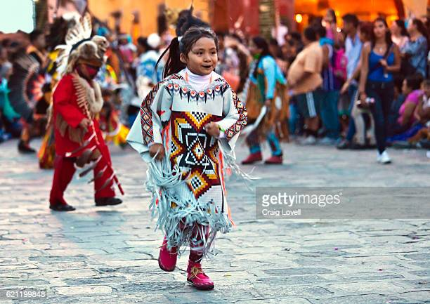 Mexican children dressed in traditional costumes during a parade celebrating the anniversary of the city - SAN MIGUEL DE ALLENDE, MEXICO
