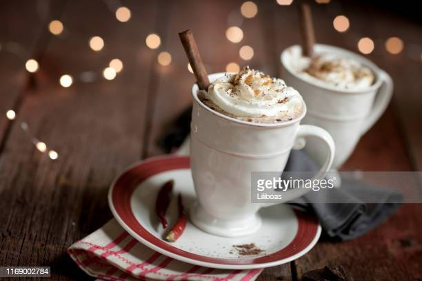 mexican chili hot chocolate - mexican christmas stock pictures, royalty-free photos & images