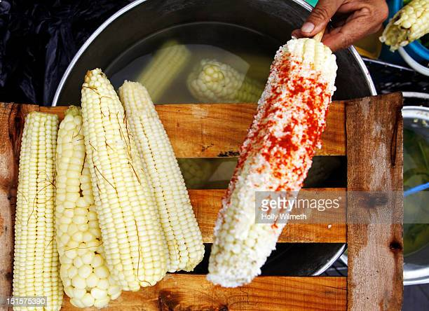 Mexican corn with chile